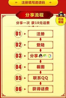 九龙图库:新用户注册免费赠送10元话费